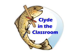 Clyde in the Classroom floats online (logo)