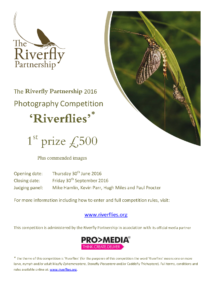 The Riverfly Partnership 2016 photography competition poster